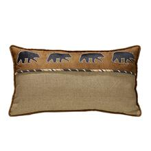 Ashbury Black Bear Lumbar Pillow - Black, Tan & Brown, 15x27