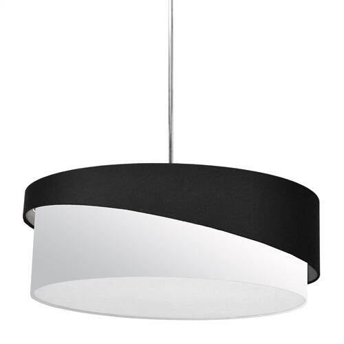 3lt Jazlynn Pendant, Black/white Shade W/ 790 Diff