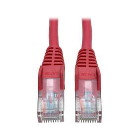 Cat5e 350 MHz Snagless Molded (UTP) Ethernet Cable (RJ45 M/M) - Red, 7 ft.