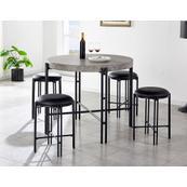 Morgan 5 Piece Counter Set (Counter Table & 4 Counter Stools)