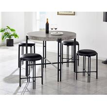 Morgan 5 Piece Counter Set (Counter Table & 4 Counter Stools)