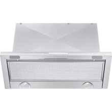 Built-in ventilation hood with energy-efficient LED lighting and backlit controls for easy use.