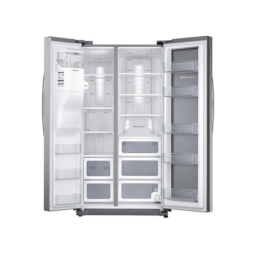 25 cu. ft. Food Showcase Side-by-Side Refrigerator with Metal Cooling in Stainless Steel