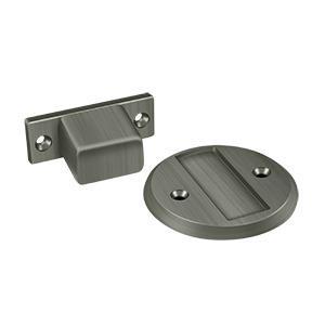 "Deltana - Magnetic Door Holder Flush 2-1/2"" Diameter - Antique Nickel"