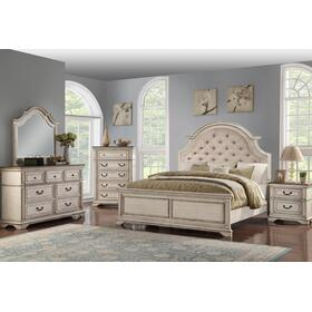 Anastasia King Bed Antique Bisque
