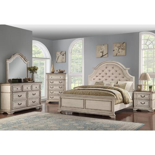 Anastasia Queen Bed Antique Bisque