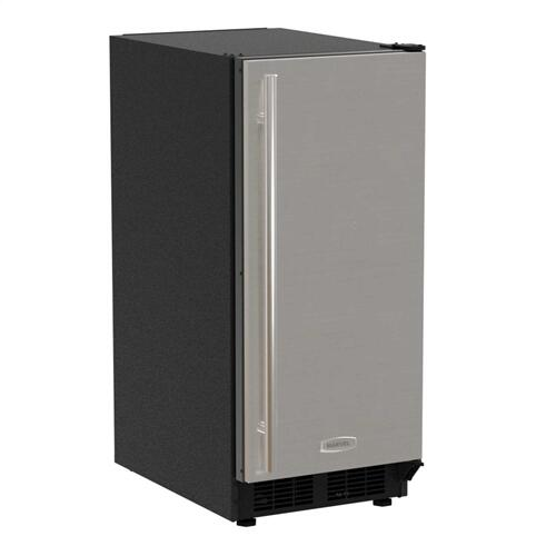 15-In Built-In Crescent Ice Maker with Door Style - Stainless Steel