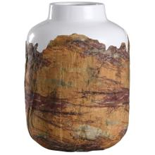 View Product - Canyon  10in X 14in Rustic Textured Ceramic Vase