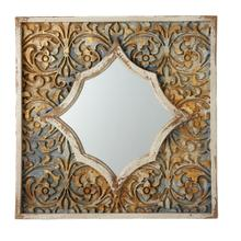 View Product - Carved Floral Wall Mirror.