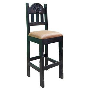 "Dark 30""star Barstool Pad Seat"