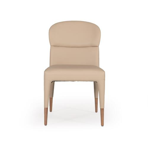 Modrest Ogden Modern Beige & Rosegold Dining Chair (Set of 2)