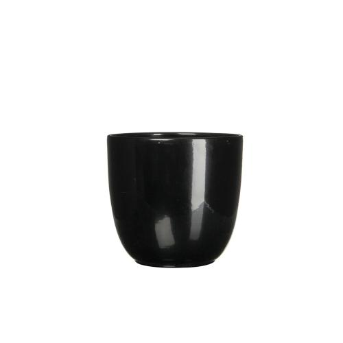 Tusca Round Planter Gloss Black (min.20pcs)