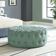 See Details - Amour Upholstered Fabric Ottoman in Laguna