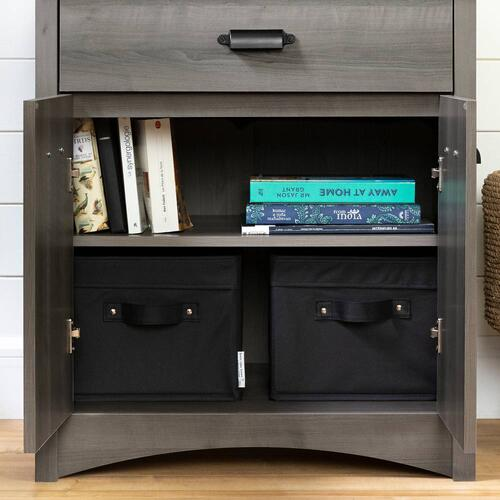 Printer Cabinet with Drawer - Gray Maple