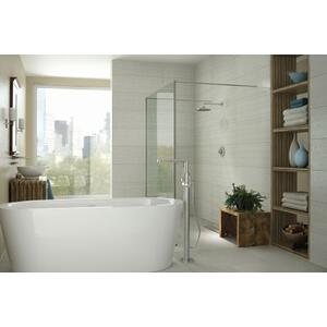 Arris chrome one-handle tub filler includes hand shower