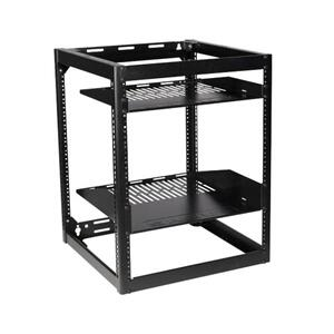"Sanus26"" Tall AV Rack 15U Stackable Skeleton Rack"