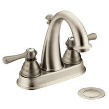 Kingsley Brushed nickel two-handle high arc bathroom faucet