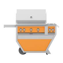"36""grill, (2)trellis, (1)sear, Rotis, DLX.CART W/DBL.SIDE Burner-ng-orange"