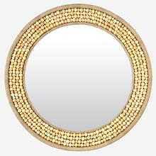 Shae Wood Bead Mirror-34.5""