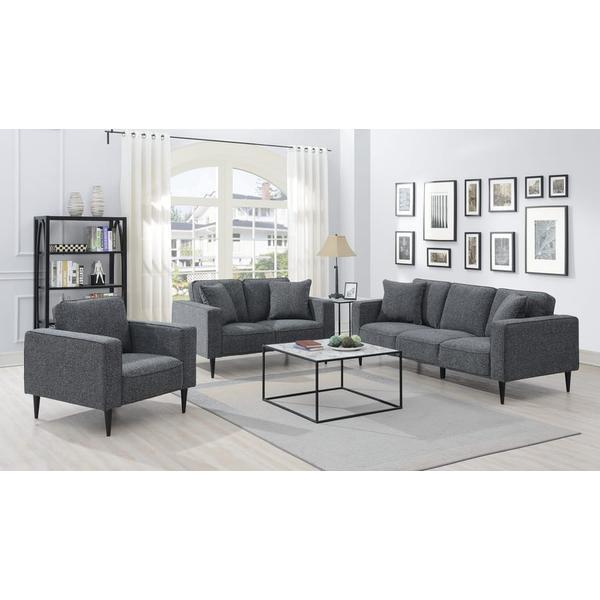See Details - Keaton Gray Sofa, Loveseat & Chair, U5401
