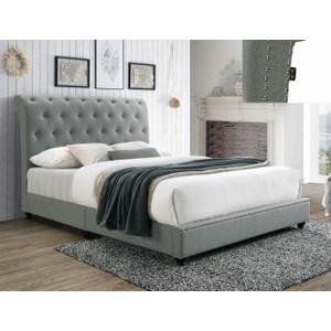 Janine Qn Platform Bed W/usb Grey