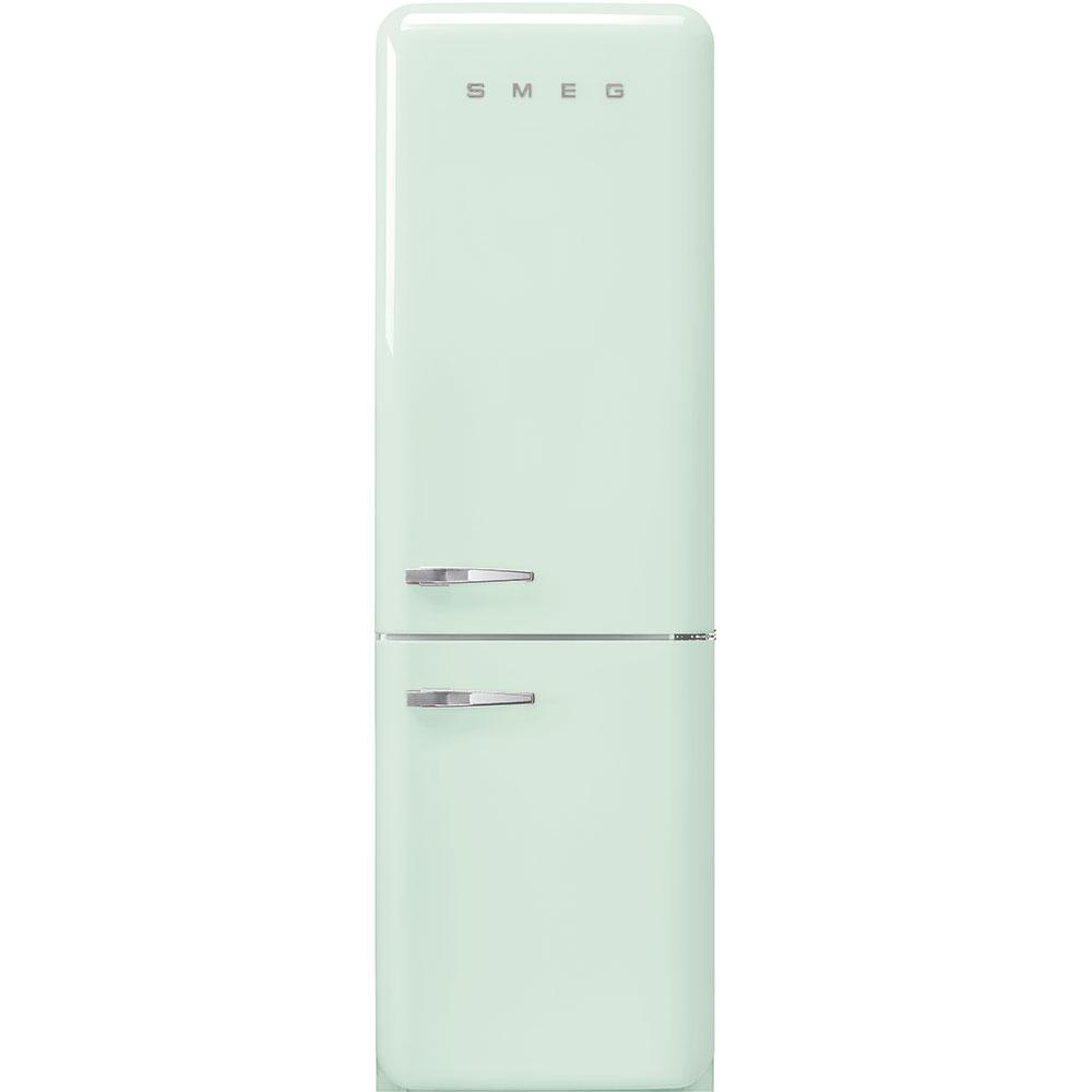 "Smeg'50s Style No Frost' Fridge-Freezer, Pastel Green, Right Hand Hinge, 60 Cm (Approx 24"")"