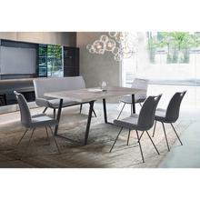 Coronado 6 Piece Pewter Rectangular Dining Set