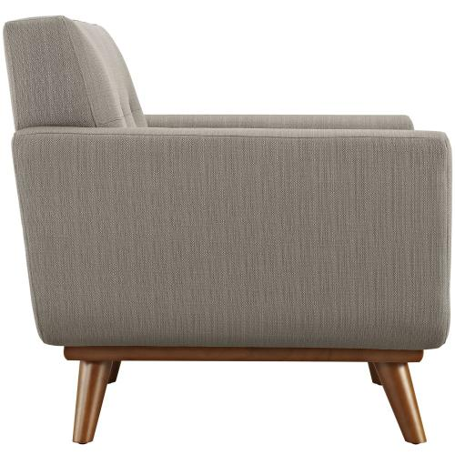Engage 2 Piece Armchair and Ottoman in Granite