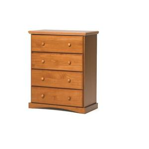 Pine Ridge 4 Drawer Chest with options: Honey Pine