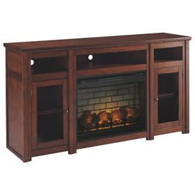 "Harpan 72"" TV Stand With Electric Fireplace"