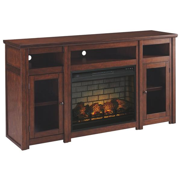 """See Details - Harpan 72"""" TV Stand With Electric Fireplace"""