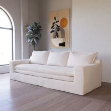 Divani Casa Academy - Modern Classic White Fabric Sofa