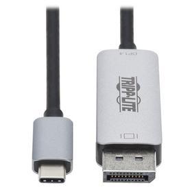 USB-C to DisplayPort Adapter Cable (M/M), 8K UHD, DisplayPort 1.4, Black/Silver, 6 ft. (1.83 m)
