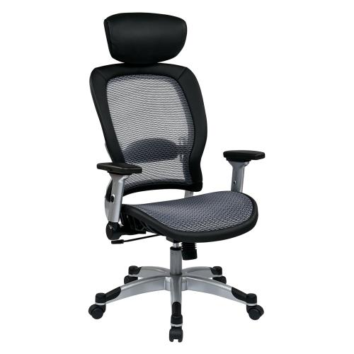 Professional Light Air Grid Back and Seat Chair With Headrest