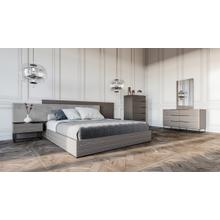 Nova Domus Enzo Italian Modern Grey Oak & Fabric Bedroom Set