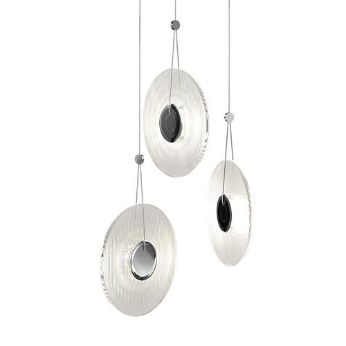Sonneman - A Way of Light - Meclisse LED Pendant [Size=3-Light, Color/Finish=Polished Chrome w/Clear Glass]