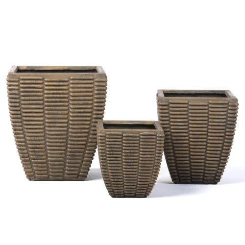 Square Benito Planter - Set of 3