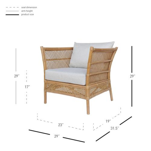 Product Image - Esai Rattan Accent Arm Chair, Canary Brown