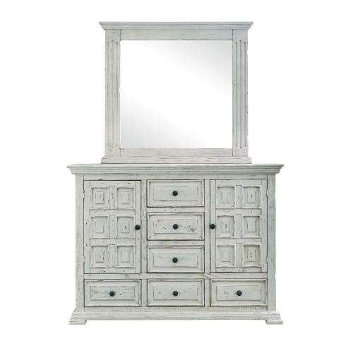 Olivia White Bedroom - Queen Bed, Dresser, Mirror, Chest, and Night Stand