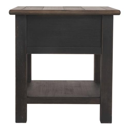 Tyler Creek Rectangular End Table Grayish Brown/Black