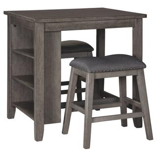 See Details - Caitbrook Counter Height Dining Table and Bar Stools (set of 3)