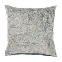 "Liliana 20"" Square Jaquard Pillow, Blue"