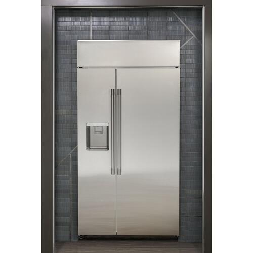 "Monogram 42"" Smart Built-In Side-by-Side Refrigerator with Dispenser"