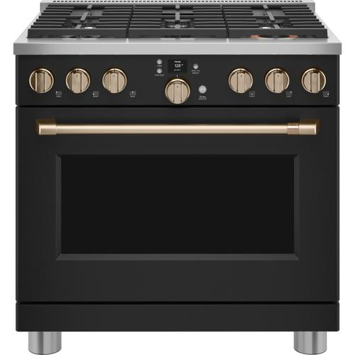 "Café 36"" Smart Dual-Fuel Commercial-Style Range with 6 Burners (Natural Gas) - Coming Soon"