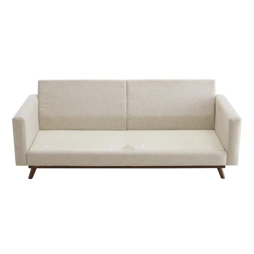 Prompt Upholstered Fabric Sofa in Beige