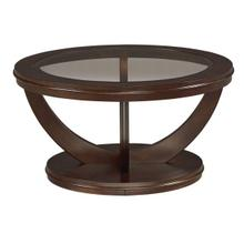 La Jolla End Table, Dark Cherry Brown