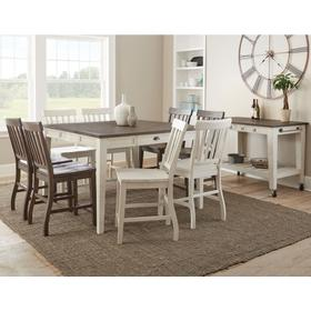 Cayla 9 Piece Counter Set(Counter Table & 8 Counter Chairs)