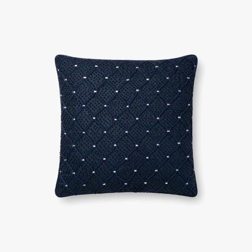 P0675 Navy / Silver Pillow