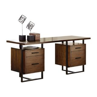 See Details - Writing Desk with Two Cabinets