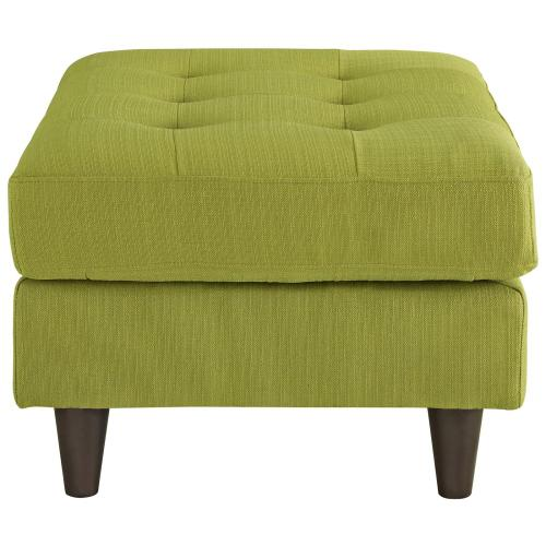 Modway - Empress Upholstered Fabric Ottoman in Wheatgrass